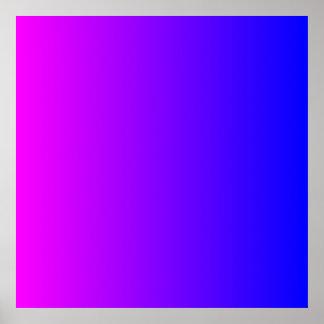 Magenta to Blue Gradient Poster