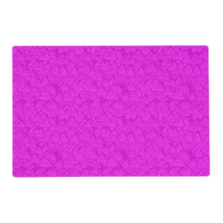 Magenta triangles placemat