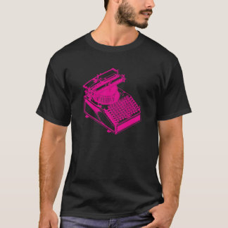 Magenta Type Writing Machine T-Shirt