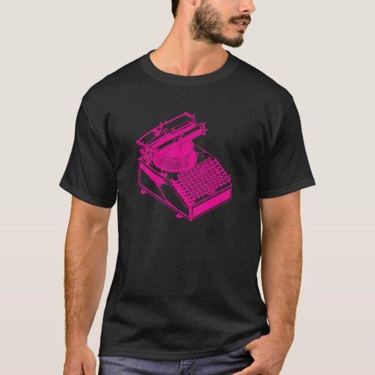 Magenta Type Writing Machine T-Shirt