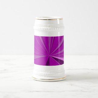 Magenta Vanishing Point Beer Stein 18 Oz Beer Stein