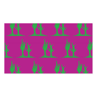 Magenta verde del cactus tarjetas de visita