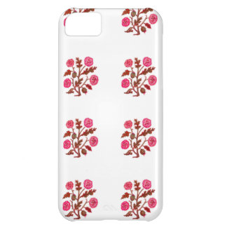 Magenta Vintage Embroidery Style Flowers iPhone 5C Cover