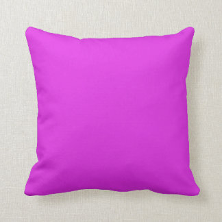 Magenta Violet Bright Purple Color Background Throw Pillow