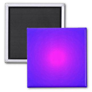 Magenta Violet Radiating Spinning Vortex Back 2 Inch Square Magnet