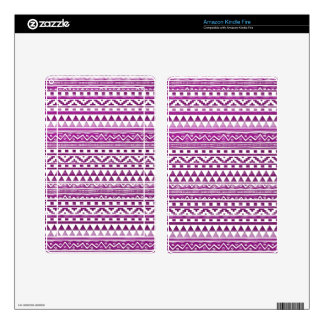Magenta Watercolor Abstract Aztec Tribal Pattern Kindle Fire Skins