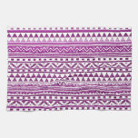 Magenta Watercolor Abstract Aztec Tribal Pattern Towel