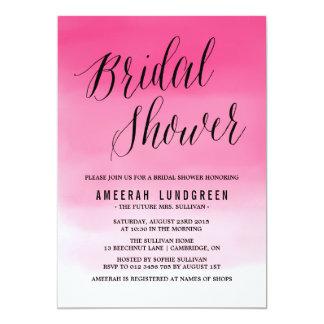 Magenta Watercolor Ombre Bridal Shower Invitation