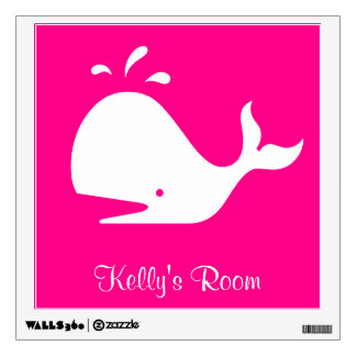 Magenta Whale 4Kelly (Name) Wall Decal