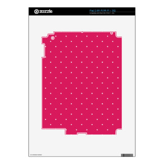 Magenta & White Polka Dots Decals For iPad 2