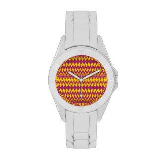 Magenta y diseño tribal del modelo de la mostaza relojes de mano