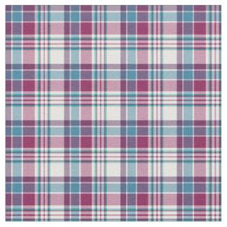 Magenta y tela escocesa azul de la moda telas