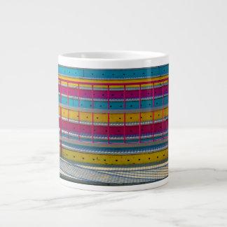 magenta yellow blue steps carnival ride abstract jumbo mugs