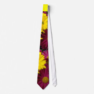 Magenta Yellow Daisies Wedding Tie