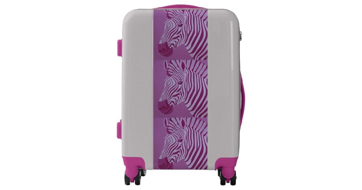 Magenta Zebra Luggage