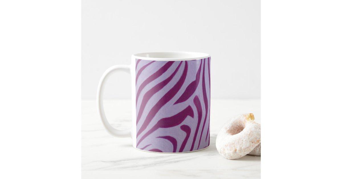 Magenta Zebra Stripe Mug