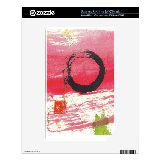 Magenta Zen Circle Skins For NOOK Color