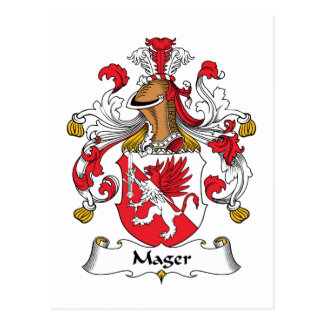 Mager Family Crest Postcard