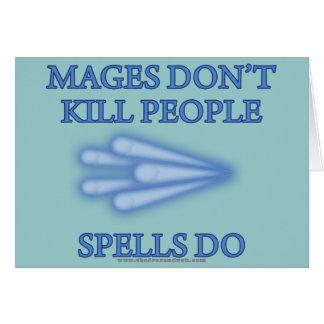 Mages no mata a gente… tarjeta de felicitación
