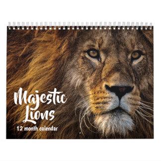 Magestic Lions 2019 Calendar