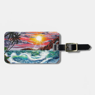 Magestic Sunset - Seascape by Galina - Luggage Tags