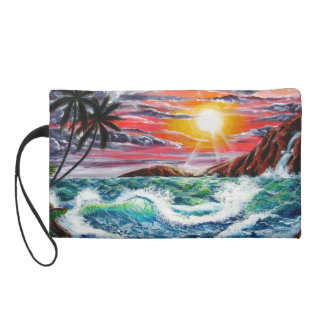 Magestic Sunset - Seascape by Galina - Wristlet