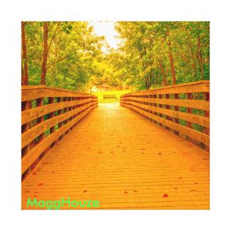 MaggHouze Bridge over Chattahoochee River Canvas Print