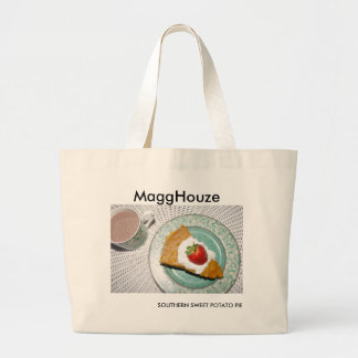 MaggHouze Southern Sweet Potato Pie Jumbo Tote Bag