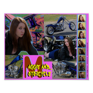 Maggie and Motorcycle Poster