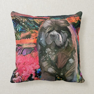 MAGGIE black chow pillow - choose size and fabric