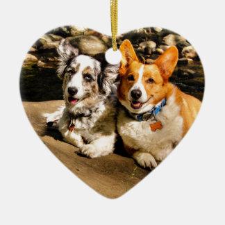 Maggie & Charlie Ceramic Ornament