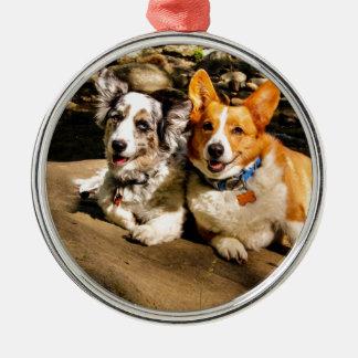 Maggie & Charlie Metal Ornament