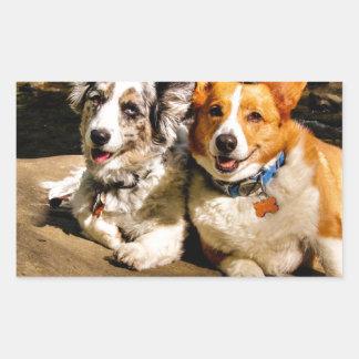 Maggie & Charlie Rectangular Sticker