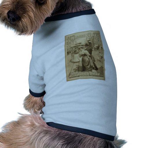 """Maggie Cline, """"en teatro retro de Broadway"""" Camiseta Con Mangas Para Perro"""