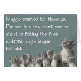 Maggie counted her blessings cards