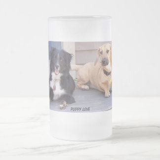MAGGIE & LILA FROSTED GLASS BEER MUG