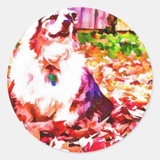 Maggie Oiled Classic Round Sticker
