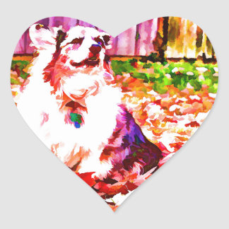 Maggie Oiled Heart Sticker