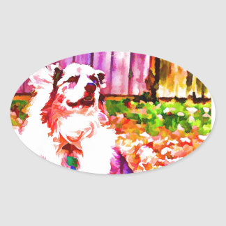 Maggie Oiled Oval Sticker