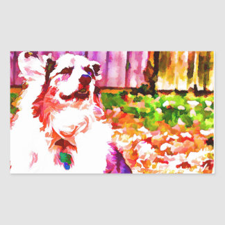 Maggie Oiled Rectangular Sticker