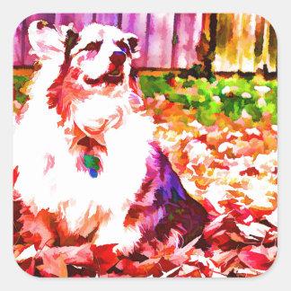 Maggie Oiled Square Sticker