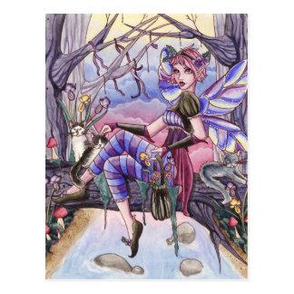 Maggie - postal de la hada y del gato