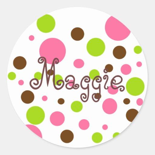 Maggie round stickers