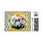 Maggie Roxie and Teenie Postage Stamp