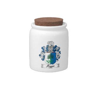 Maggio Family Crest Candy Jar