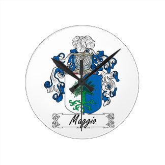 Maggio Family Crest Wall Clocks