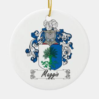 Maggio Family Crest Christmas Ornament