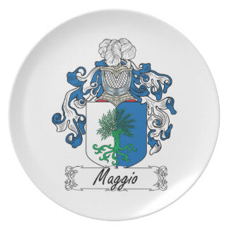 Maggio Family Crest Party Plate