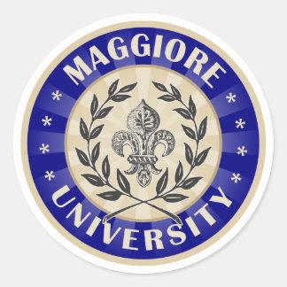 Maggiore University Navy Sticker