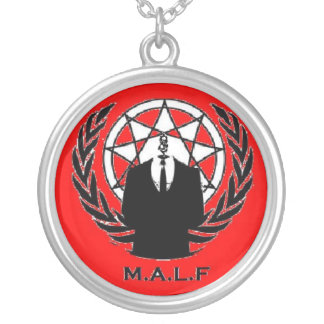 Maggots Against Fake Losers Round Pendant Necklace